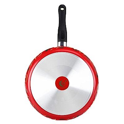 義廚寶 菲麗塔系列 30cm深平底鍋 FE05-1 雙色椒娃(獨家搭贈專用蓋+蝶型荷木鏟)