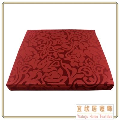 【宜欣居傢飾】艾馬仕 精緻緹花實木椅座墊6入(紅) 55*55*5cm 台灣製