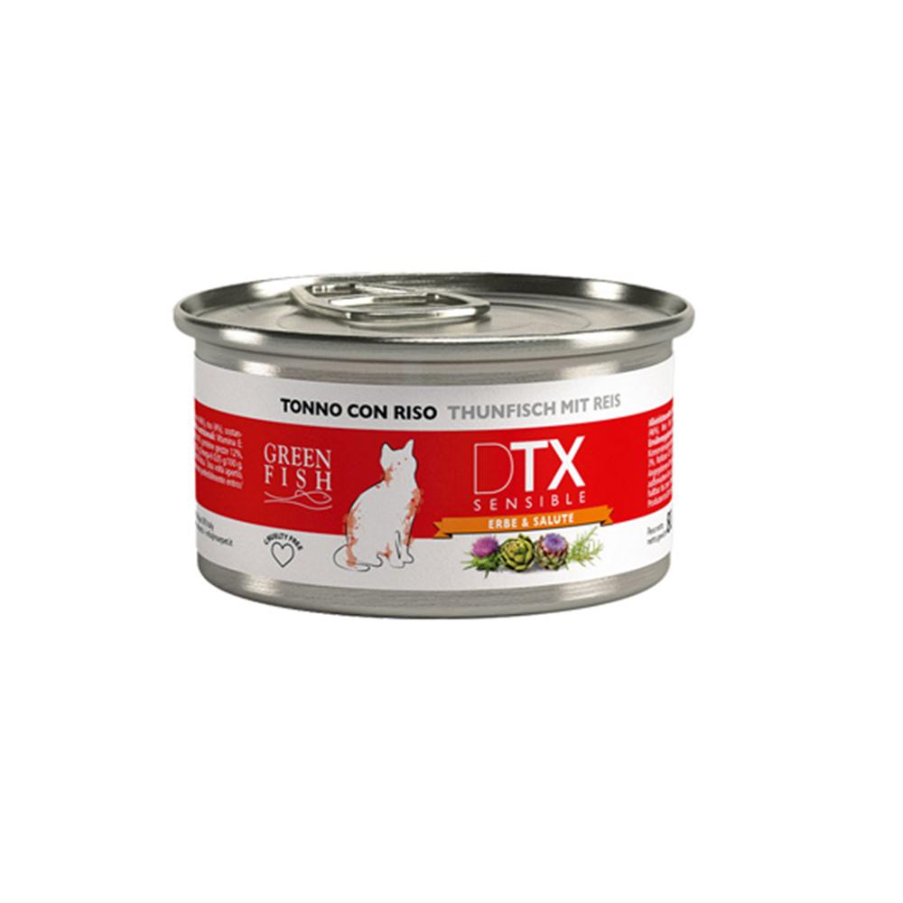 GREEN FISH 葛林菲 DTX 低敏護肝貓主食罐 80g X 16罐
