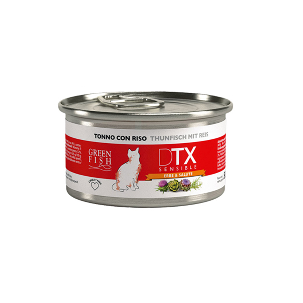 GREEN FISH葛林菲 DTX低敏護肝貓主食罐 80g X 32罐