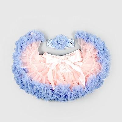 日安朵朵 女嬰童雪紡蓬蓬裙 - 粉紅沙灘