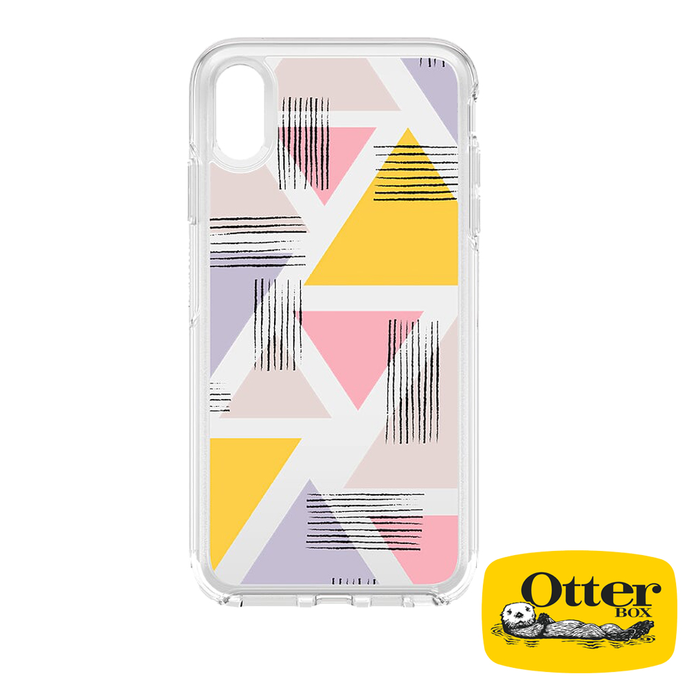 OtterBox iPhoneXS Max炫彩幾何透明系列保護殼-三角戀