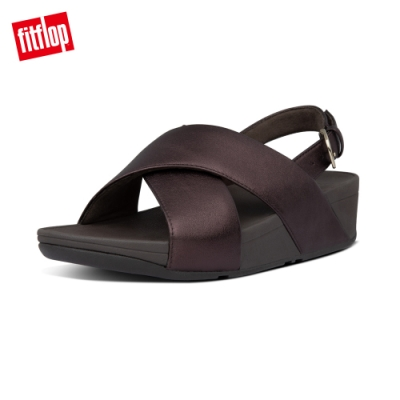 FitFlop LULU LEATHER CROSS BACK-STRAP SANDALS 經典可調整式後帶涼鞋-女(金屬巧克力色)