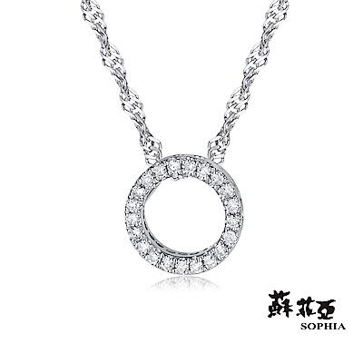 蘇菲亞SOPHIA 鑽石項鍊-無限愛14K鑽鍊