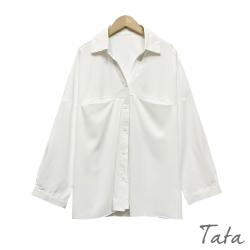 V領開襟口袋雪紡襯衫 共二色 TATA-F