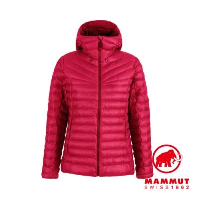 【Mammut 長毛象】Albula IN Hooded Jacket 防潑水連帽羽絨外套 夕陽紅 女款 #1013-01790