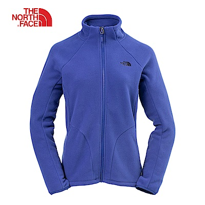 The North Face北面女款藍色抓絨外套 364KZDE
