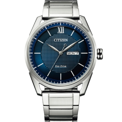CITIZEN 星辰 GENT S 經典格紋紳士腕錶(AW0081-89L)42mm