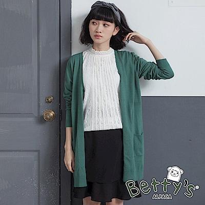 betty's貝蒂思 氣質雪紡蕾絲繡邊短裙(黑色)