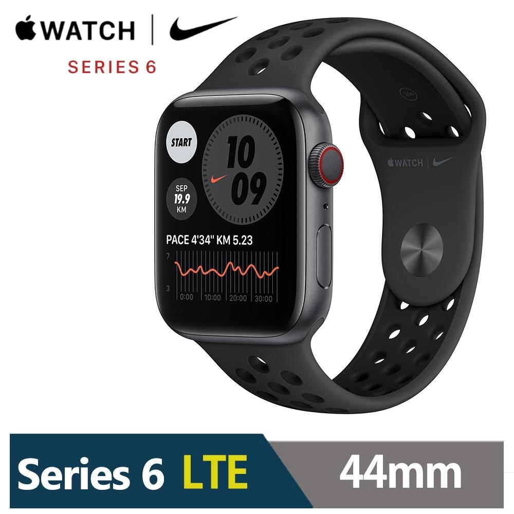Apple Watch Nike+S6 44mm 鋁金屬錶殼配配運動錶帶(GPS+Cellular版)