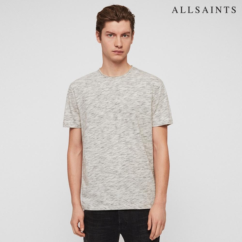 ALLSAINTS FICTION 素面捲編領口棉質短袖T恤