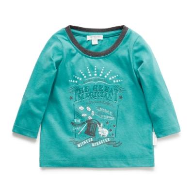 澳洲Purebaby有機棉男童印花長T-1~3歲