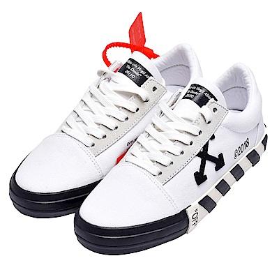 OFF-WHITE 經典WMNS VULC系列條紋裝飾休閒鞋(白)