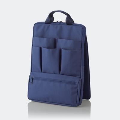 ELECOM 站立收納袋中袋(直式)-藍
