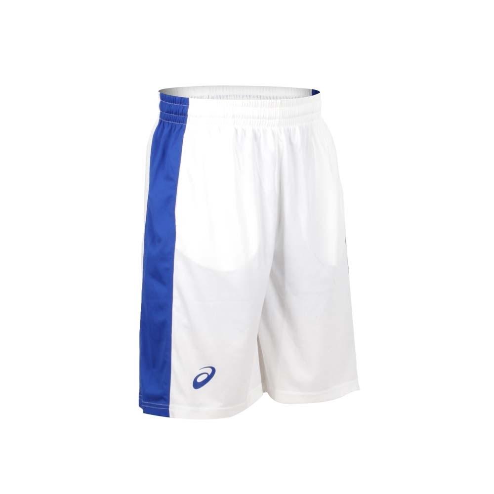 ASICS 男單面籃球短褲-球褲 亞瑟士 白藍
