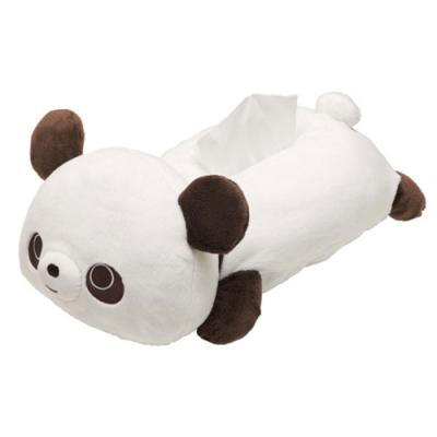 巧克貓熊行李箱系列毛絨面紙套。白 San-X