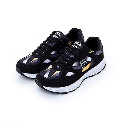 FILA 男款慢跑鞋-黑 1-J201T-091