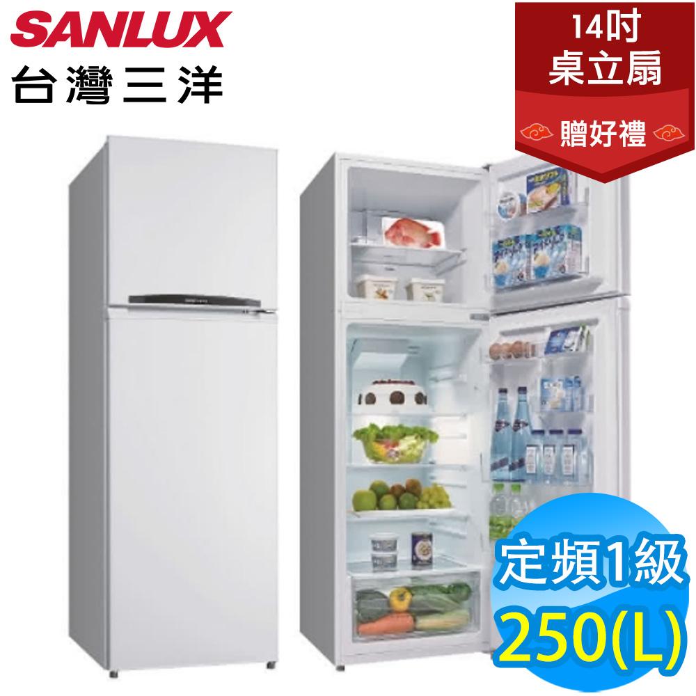 SANLUX台灣三洋 250L 1級定頻2門電冰箱 SR-C250B1 送風扇