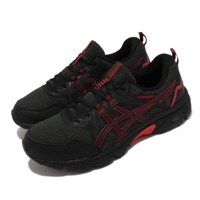 Asics 慢跑鞋 GEL Venture 8 4E 超寬楦 亞瑟士 路跑 緩震 輕量透氣 亞瑟膠 黑 紅 1011A826007