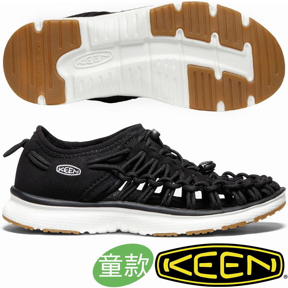 KEEN 1020580黑/白 Uneek O2 青少年戶外編織涼鞋