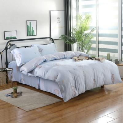 夢工場憨憨萌熊40支紗萊賽爾天絲四件式床罩兩用被-加大