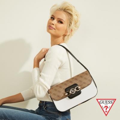 GUESS-女包-撞色拼接質感肩背包--白 原價3090