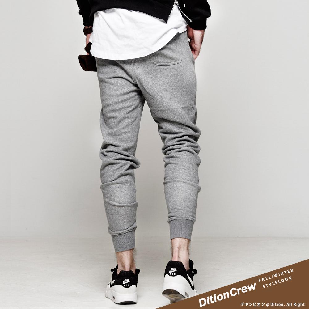 DITION 韓系JOGGER運動縮口棉褲 磨毛感抗毛球 單車