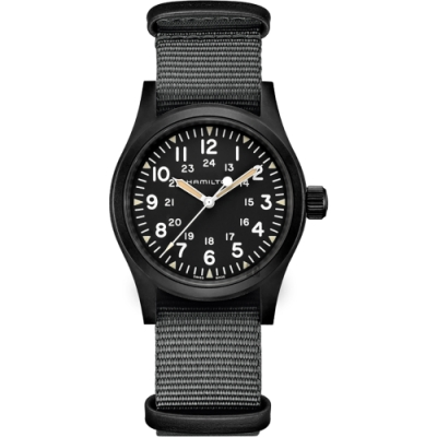 HAMILTON 卡其野戰系列手動上鍊軍錶H69409930-38mm