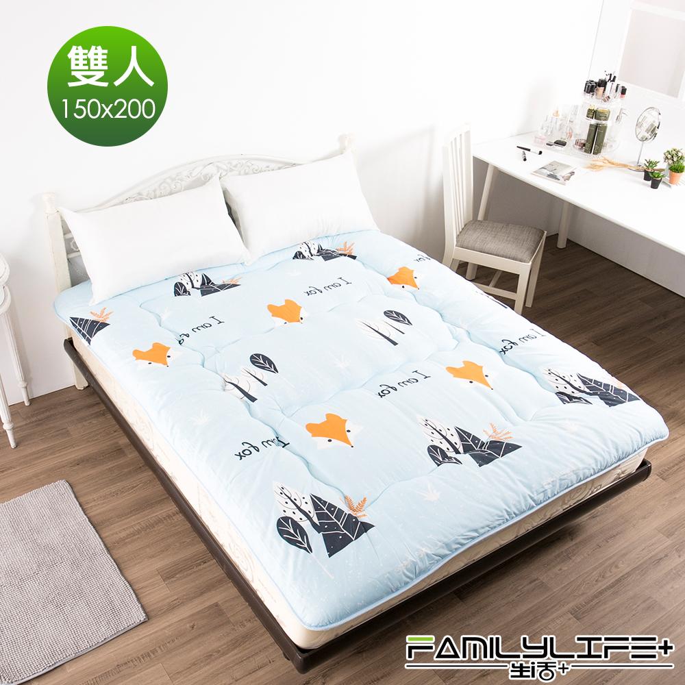 FL生活+ 日式加厚8cm雙人床墊(150*200cm)-森林小狐