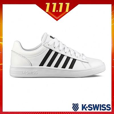 K-SWISS Court Winston休閒運動鞋-女-白/黑