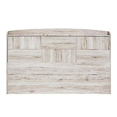 綠活居 蘇亞工業風6尺拼接木紋雙人加大床頭片-184x15x98cm免組