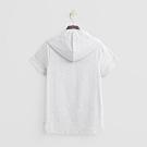 Hang Ten -女裝-ThermoContro-造型logo短袖連帽上衣-灰