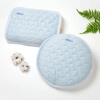 【Newstar明日之星】超涼感透氣舒眠枕巾/枕頭墊(冰島藍) (2款可選)
