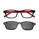 【 Z·ZOOM 】老花眼鏡 磁吸太陽眼鏡系列 時尚矩形粗框款(黑框紅身) product thumbnail 1