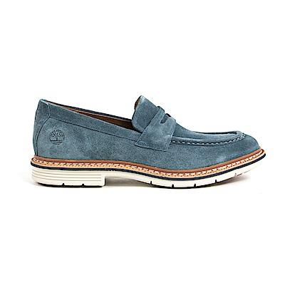 Timberland 男款海軍藍麂皮橫帶樂福鞋 | A1NGZ431