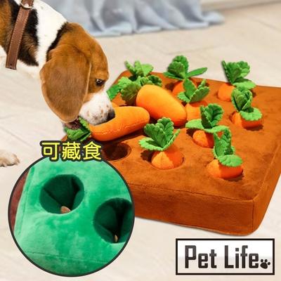 Pet Life 爆紅熱銷 拔蘿蔔寵物玩具/嗅聞益智玩具/尋寶毯/嗅聞墊