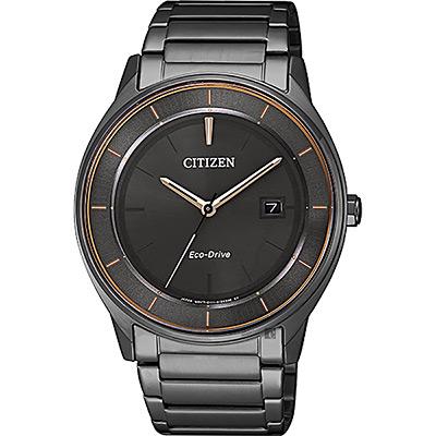 CITIZEN 星辰 光動能城市手錶-灰/40mm