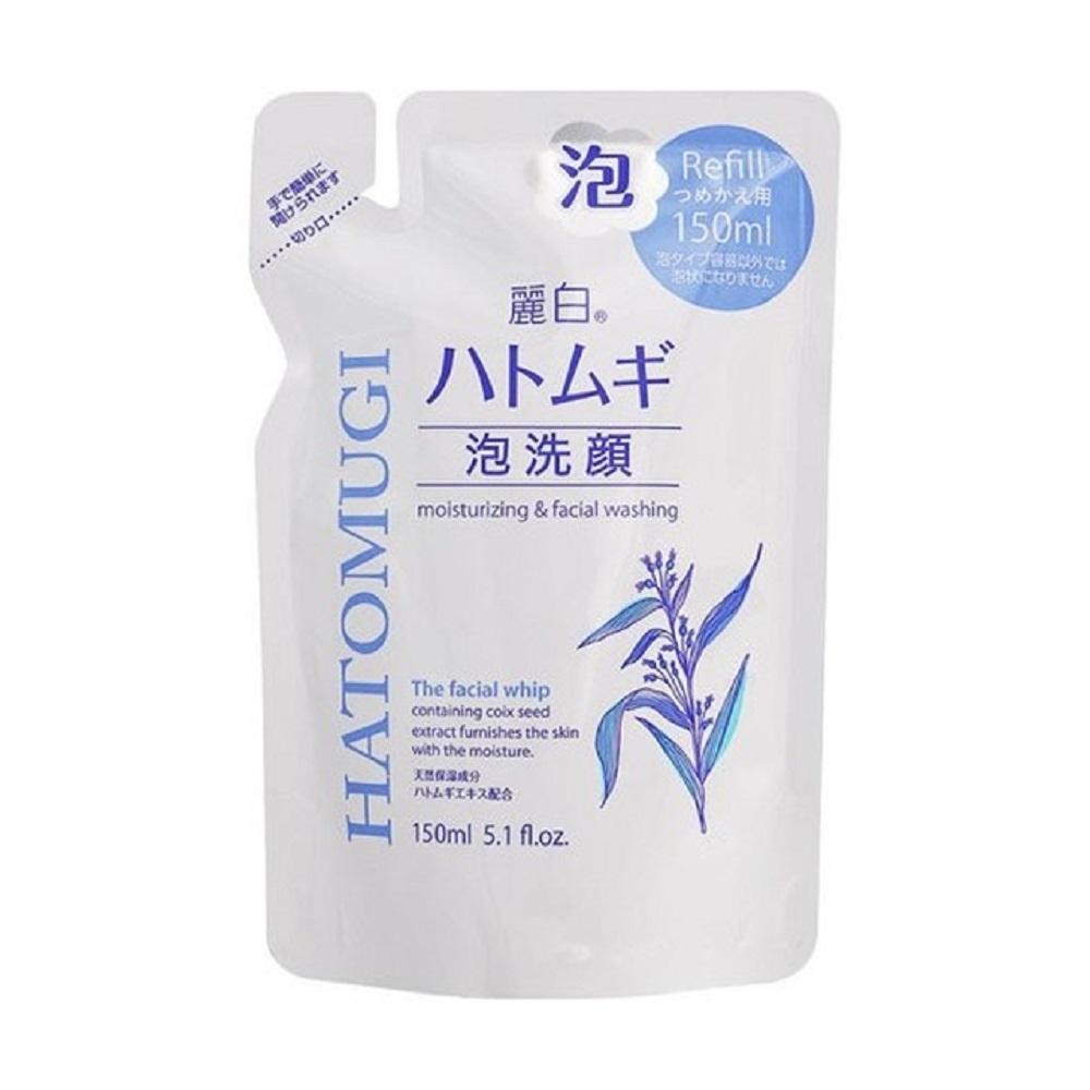 日本 熊野油脂 麗白 薏仁泡沫洗面乳 補充包150ml