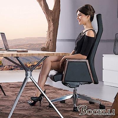 BOCELLI-ECCELLENTE卓越風尚高背辦公椅(義大利牛皮)經典黑