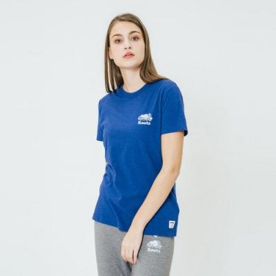 女裝Roots  BREATHE短袖T恤-藍