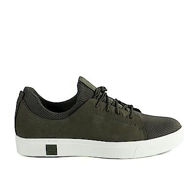 Timberland 男款深綠色真皮綁帶運動鞋 | A1OGKA58