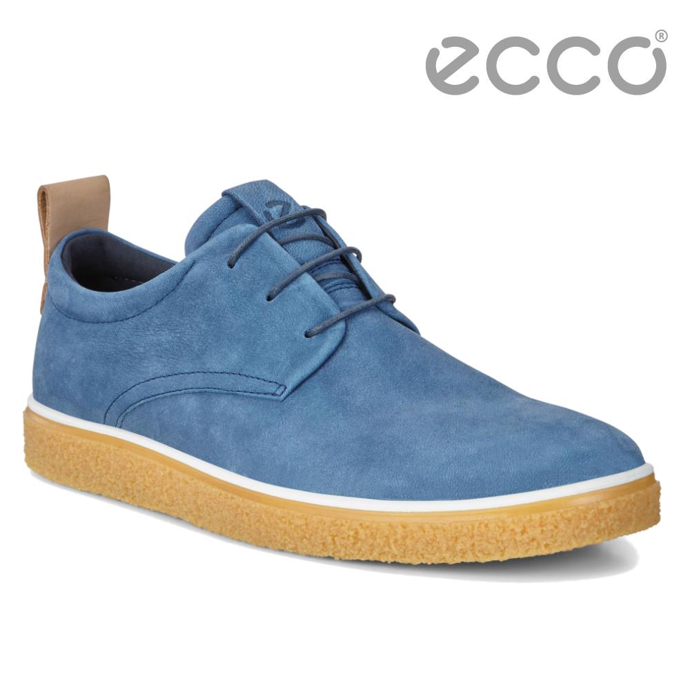 ECCO CREPETRAY MENS 蜜糖牛奶休閒鞋 男-藍