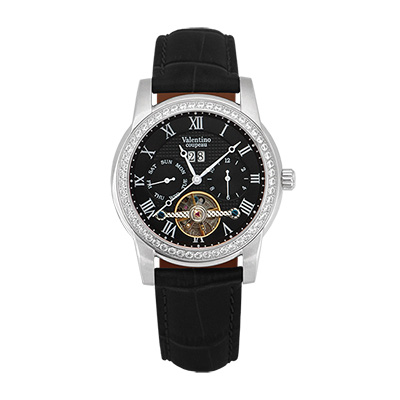 Valentino Coupeau 范倫鐵諾 古柏 閃耀晶橋機械錶 (白殻/黑面/黑帶)