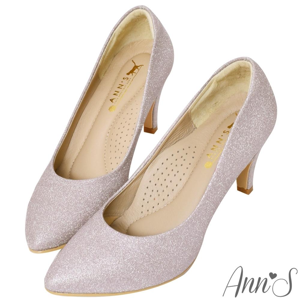 Ann'S睡美人-訂製晶鑽3D氣墊尖頭高跟鞋-粉