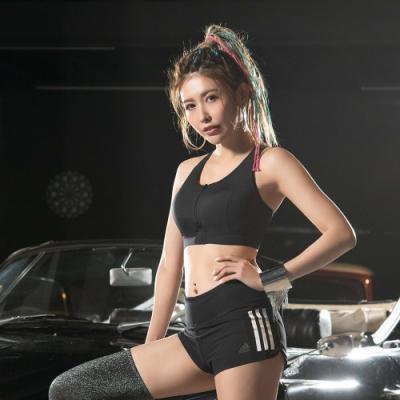 8:AT 拉鍊式運動內衣  M-XL (黑)