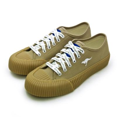 KangaROOS 帆布厚底餅乾鞋 CRUST 藍標袋鼠鞋系列 棕白 91271