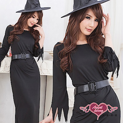 角色扮演 魔力幻想 萬聖節女巫派對表演服(黑F) AngelHoney天使霓裳