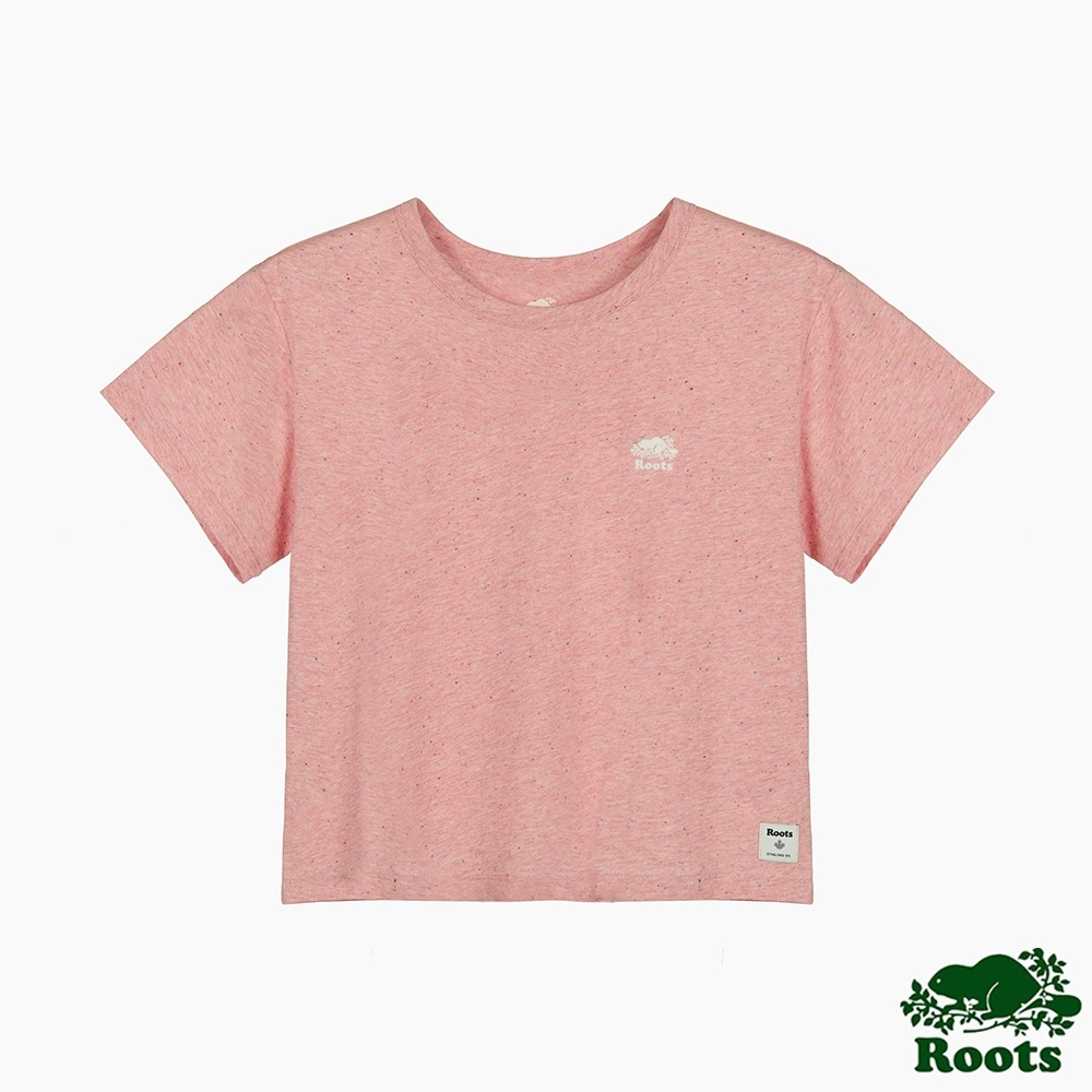 Roots 女裝- 雜點效果短袖T恤-玫瑰粉