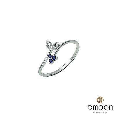 amoon 璀璨彩寶系列 茂盛 10K金鑽石戒指
