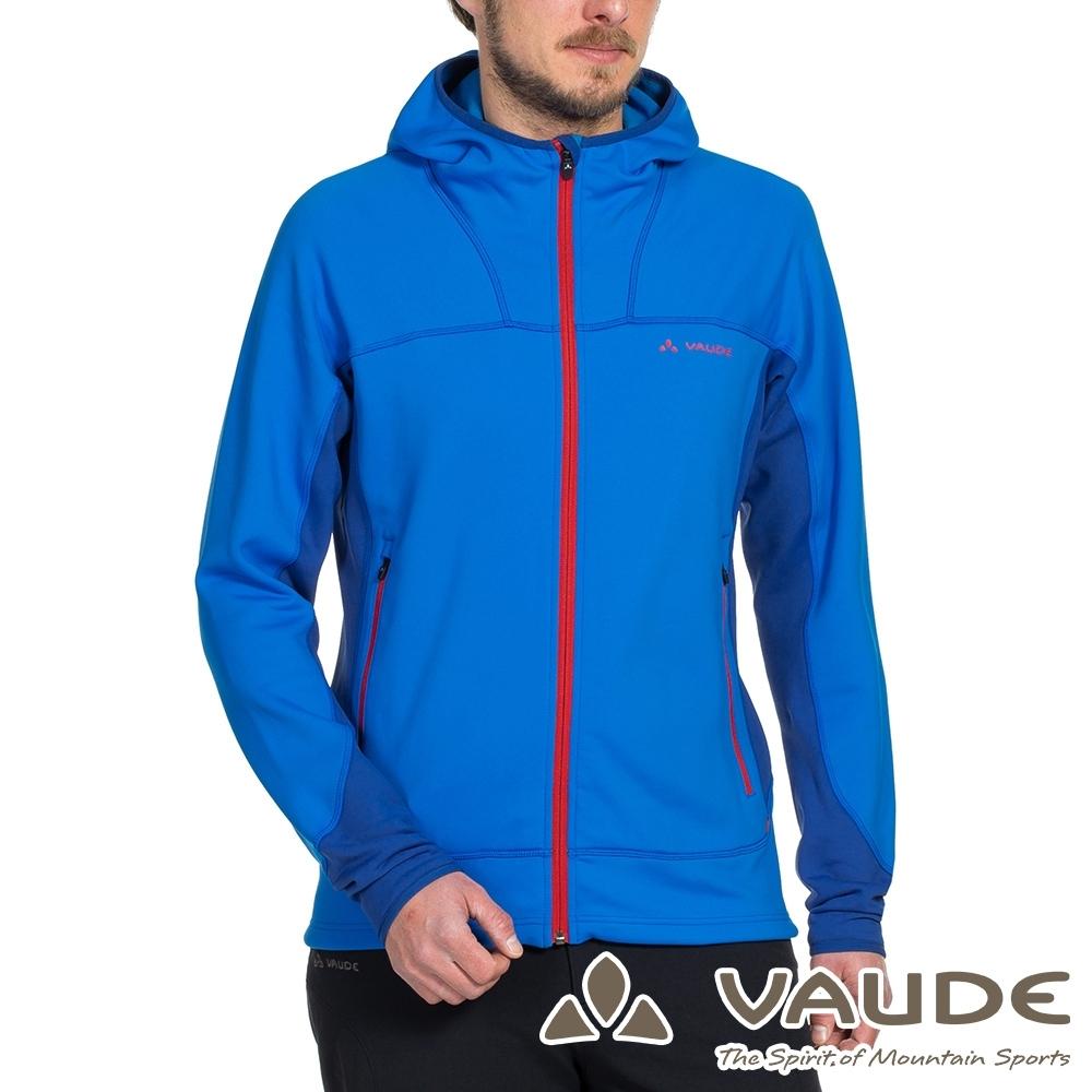 【德國 VAUDE】男款抗風內層刷毛保暖連帽彈性休閒外套VA-05749水藍